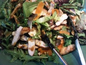 Grilled Chicken Salad With Peanut And Lime Honey Dressing from Bonnie Stern.