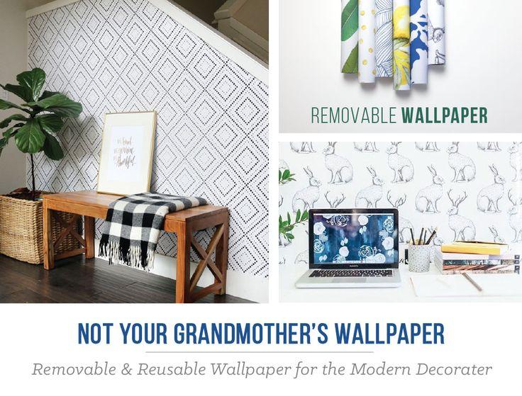 Self Adhesive, Removable Wallpaper By @wallsneedlove.