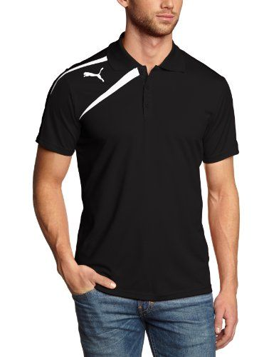 PUMA Herren Polo Shirt Spirit, Black White, XL, 653588 03