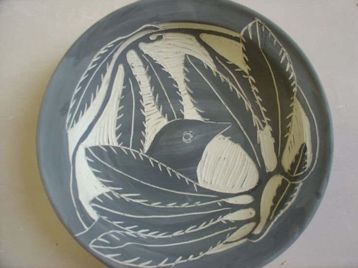 shy bird salad plate
