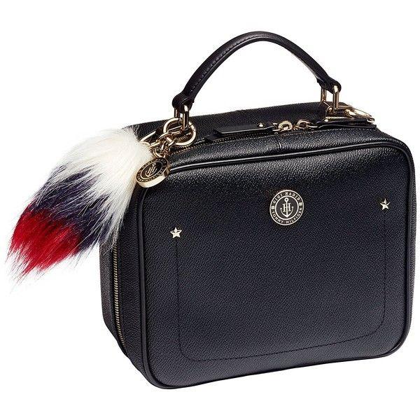Tommy Hilfiger Mini Truck Bag ($175) ❤ liked on Polyvore featuring bags, handbags, miniature purse, mini bag, tommy hilfiger purses, blue purse and miniature handbags