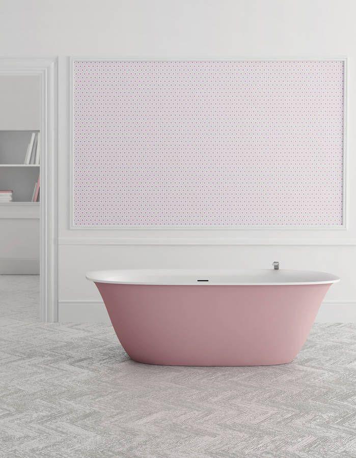 Baignoire design rose