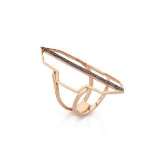 """Baguette Jewellery """"siyah pırlantalı çizgi yüzük""""      """"14 K Rose Altın, 0.30 ct. Siyah Pırlanta"""" #maximumkart #aksesuar #accessory #moda #fashion #yüzük #yüzükmodelleri #rosealtın"""