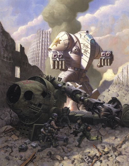 omercifulheaves:  Battletech Art by Mark Zug