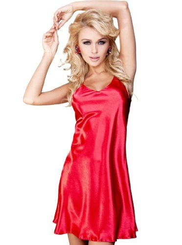 DKaren Karen Luxury Satin Sexy Babydoll Chemise Nightdress Nightgown Lingerie