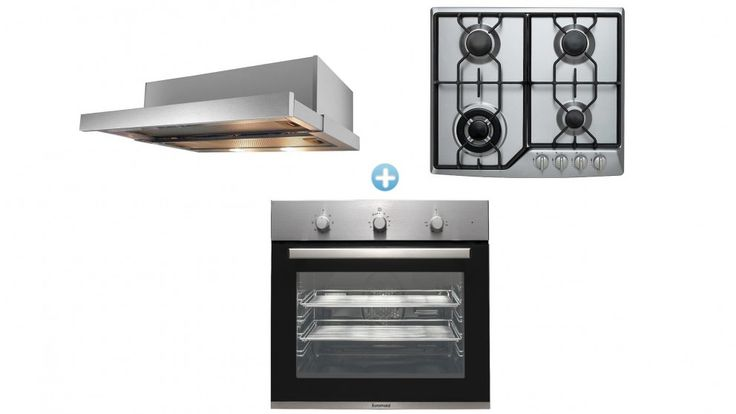 Euromaid BS7 7 Multifunction Oven with Gas Cooktop and Slide-out Rangehood Package