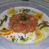 Tartare de saumon au gingembre - une recette Tartare - Cuisine