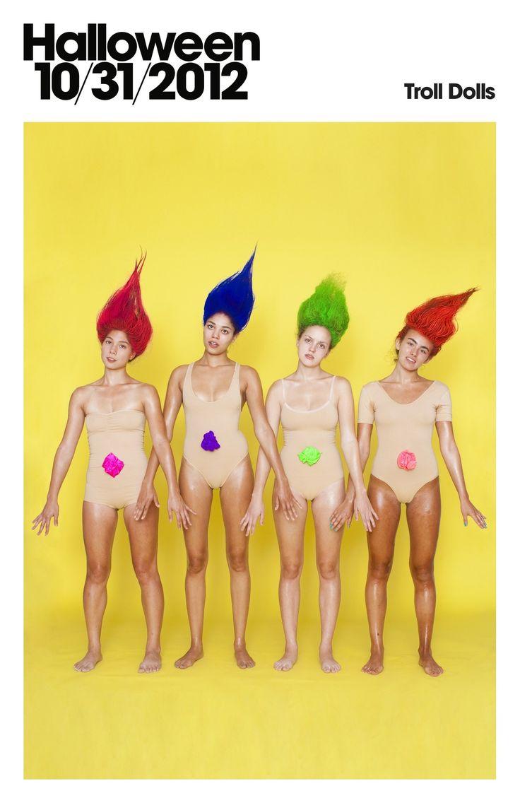 Troll Dolls #Halloween costumes by #AmericanApparel.  #troll #dolls #costumes