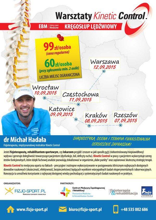 warsztaty kinetic control, fizjoterapia Michał Hadała