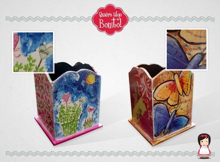 Lapiceros pintados por Quiero algo Bonito!