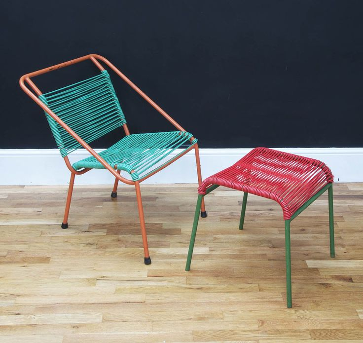 Retro lounge chair with footstool (1) - Bring It On Home