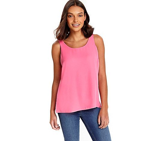 Wallis Petite pink round neck cami | Debenhams