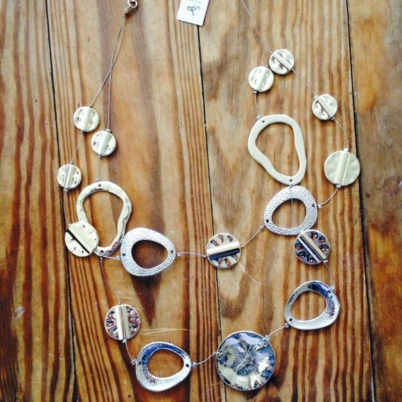 NWT Susan graver gold and silver necklace! Silver and gold, silver and gold... Perfect for the holidays! This Brand new silver and gold necklace is just what your Christmas outfit needs!  Buy it now!!!! Susan Graver Jewelry Necklaces