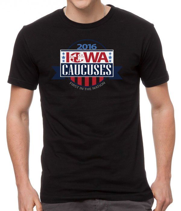 New+Black+Shirt+Iowa+Republican+Caucus+Black+Men+T-Shirt
