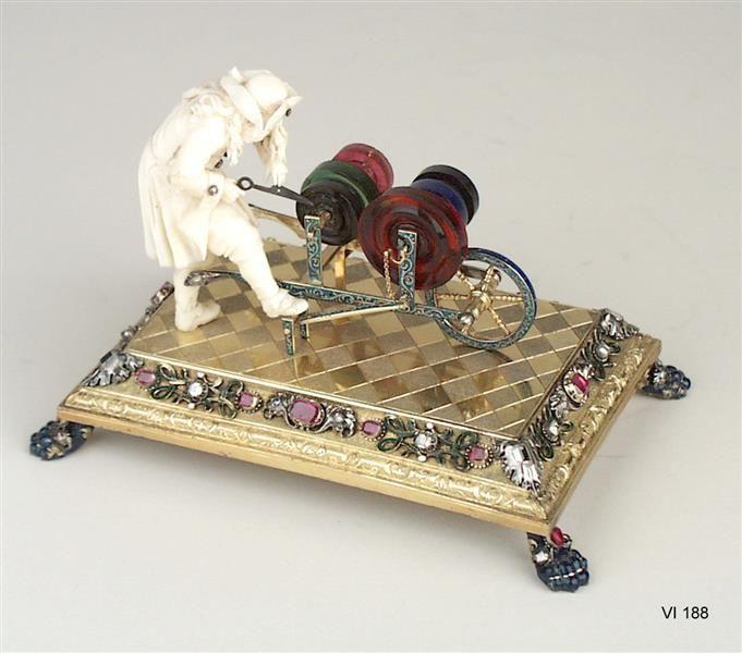 Miniature Scherenschleifer  by Köhler, Johann Heinrich Goldsmith  made  Dresden 1708  @ The Green Vaults