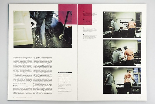 Clean Magazine Layout with a lot of white space.