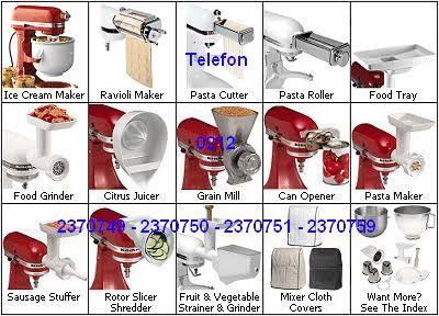 Kitchenaid Aparatlarını Satıyoruz 0212 2536412 - Kitchenaid Mikser Aksesuarları:İlave ücretle satın alabileceğiniz Kitchenaid aparatlarıyla tezgah üstü Kitchenaid mikserinizi makarnadan dondurmaya, sosis doldurma makinasından portakal sıkma makinası özelliklerine sahip gelişmiş bir mutfak robotuna dönü