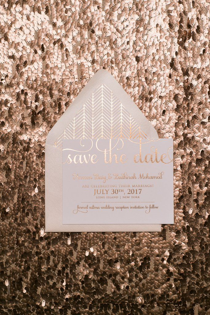 ADELE Save The Date, rose gold foil, chevron, boho patterns, elegant save the date, blush