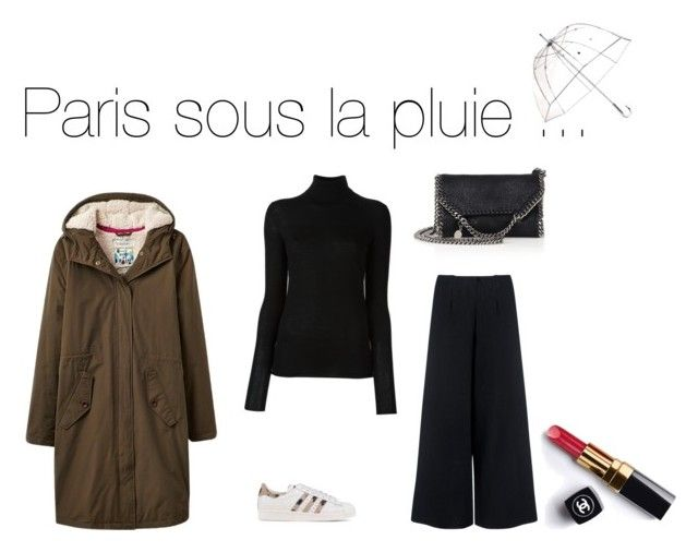 """Paris sous la pluie ..."" by seniorista on Polyvore featuring mode, C/MEO COLLECTIVE, adidas Originals, Joseph, Joules, STELLA McCARTNEY, Totes et Chanel"
