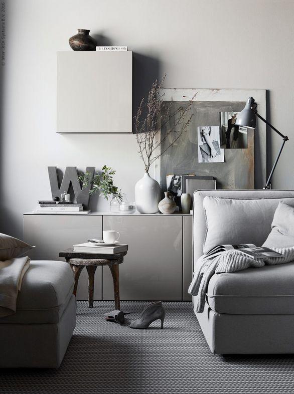 25 beste idee n over grijs kantoor op pinterest kleurtonen grijzen ana en neutrale muurkleuren - Kleur en materialen ...