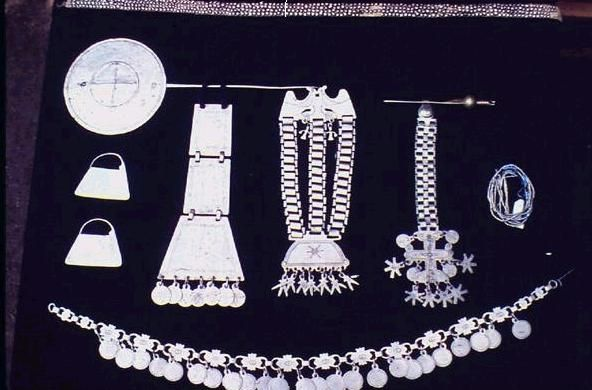 mapuche silverwork  makes  seemingly simple, yet complex women's finery