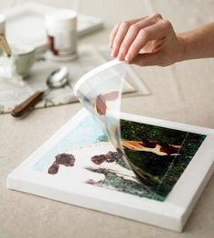 Transfer images to canvas, pillows, or furniture - what great gifts this could make!