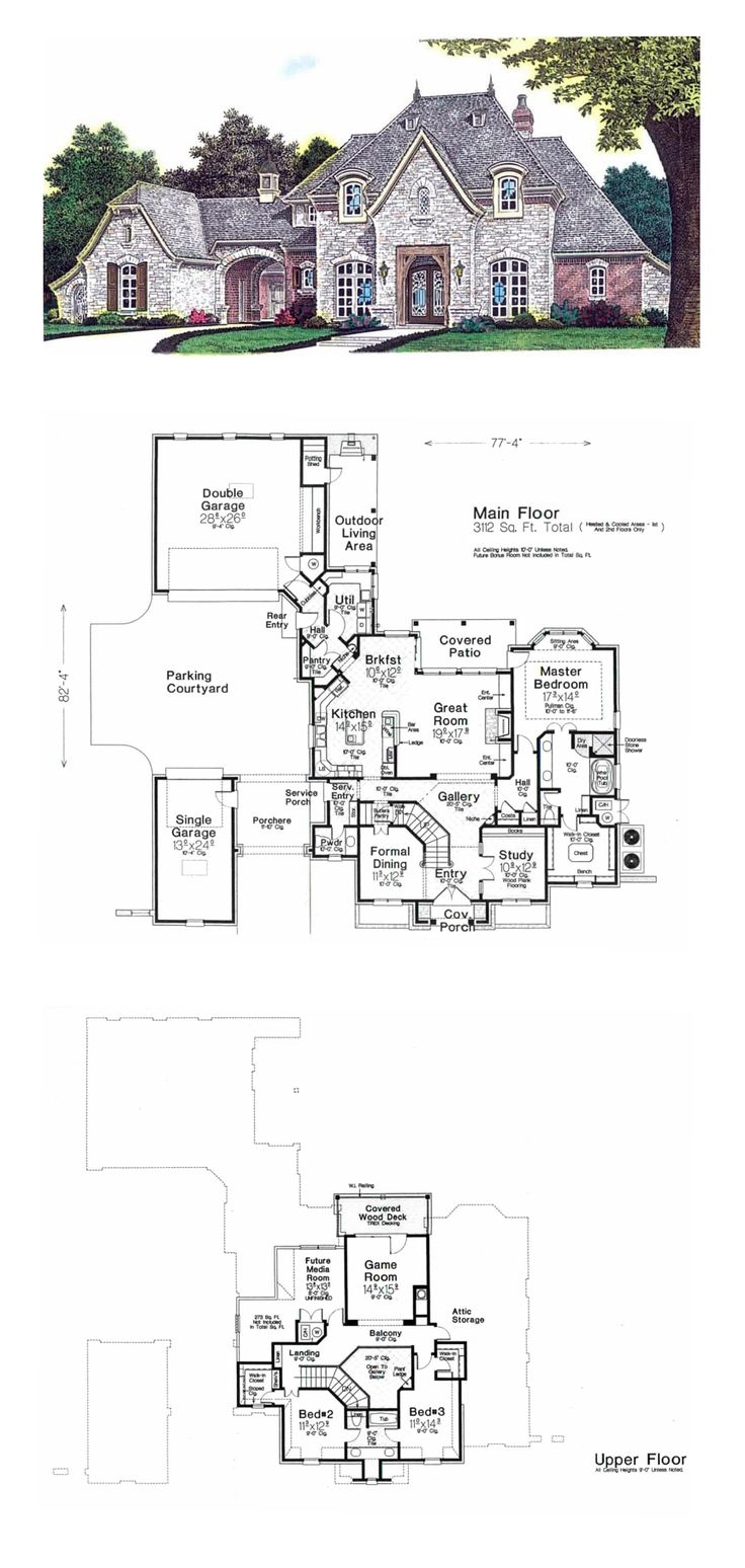 Best 25 french house plans ideas on pinterest house for French house plans