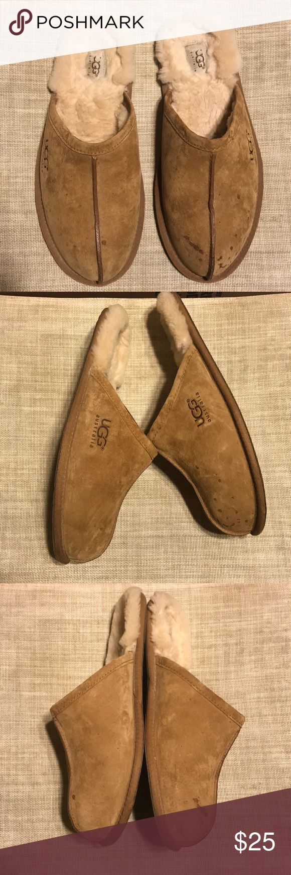 Ugg men's slippers warm and cozy men's shearling / suede ugg slippers. Good lightly used condition UGG Shoes Loafers & Slip-Ons