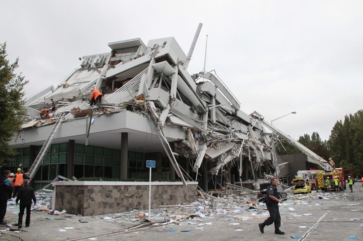 The Collapsed Pynes Building, Christchurch, NZ, 2011, Feb 22