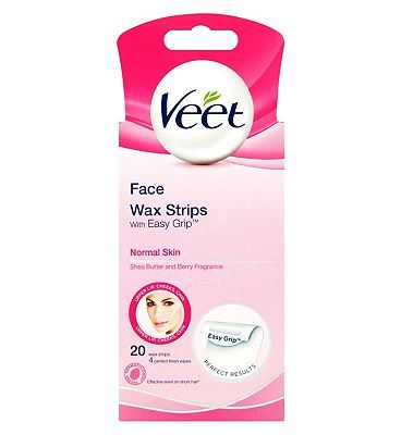 Veet Face Ready-to-Use Wax Strips 20 Wax Strips 24 Advantage card points. Designed for normal skin and enriched with shea butter and berry, these waxing strips are effective on short hair for up to four weeks of smoothness. 20 reuseable wax strips  http://www.MightGet.com/february-2017-1/veet-face-ready-to-use-wax-strips-20-wax-strips.asp