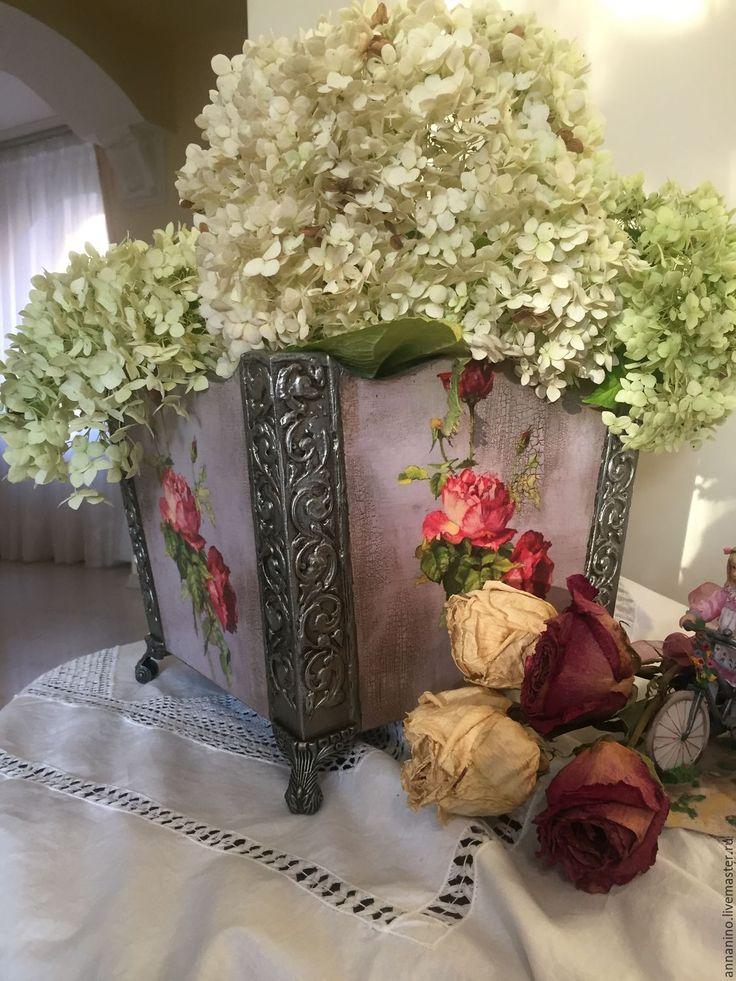 """Купить Кашпо под цветы """"Винтаж"""" - кашпо, для дома и интерьера, для цветов, под цветы, цветы"""