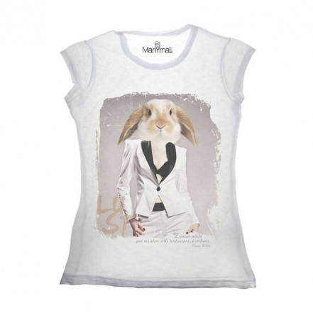 T-shirt donna Coniglio by Manymal