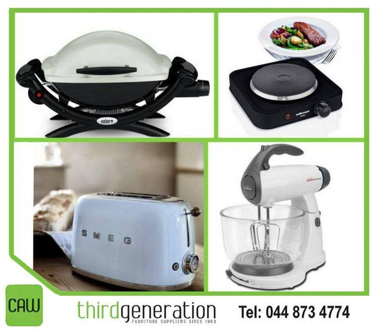 Kit out your kitchen with a huge range of appliances from #ThirdGenerationCAW. Visit us in-store or contact us on 044 873 4774. #appliances