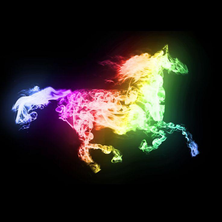 Awesome Fiery Rainbow Horse