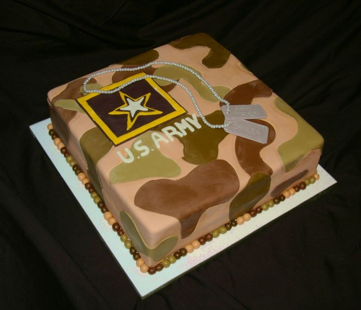 Army Birthday Cake Army cake, Army birthday cakes