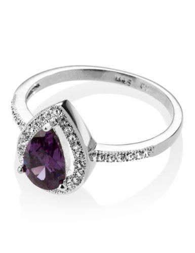 M&S Collection Platinum Plated Vintage Style Pear Ring-Marks & Spencer