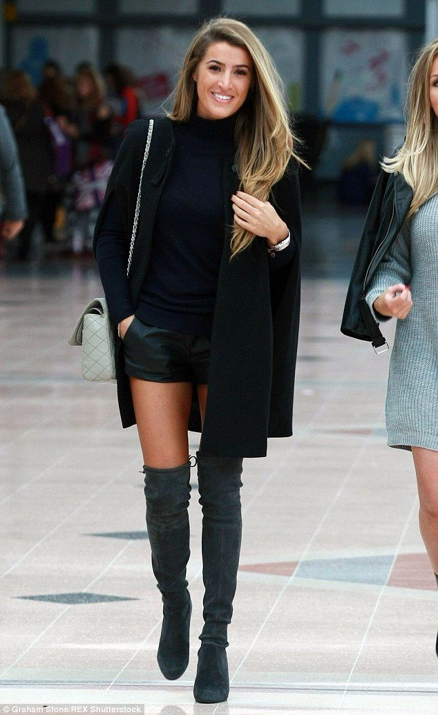 Hot to trot: Newly single star Lillie Lexie Gregg stepped out looking incredible in thigh-high boots and shorts after her split from Geordie Shore's Gaz Beadle