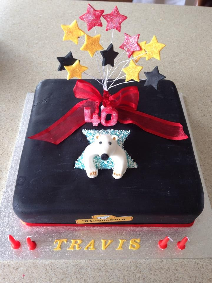 Bundaberg cake. hand made spray and polar bear. edible ...