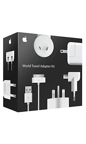 I hate travelling with a lot of stuff. Worse than the items themselves, one thing that annoys me is the need for 27 different chargers, plugs, and endless options. Apple's World Travel Adapter Kit has taken away some headaches by offering a cable and you just choose the adapter you need. So simple, such a great idea.