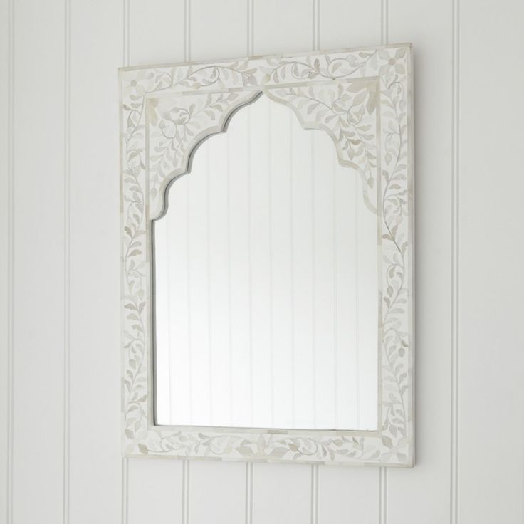 White Mother of Pearl Inlay Mirror