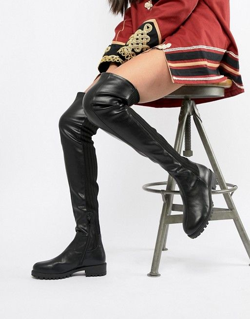 5c908477bf9 DESIGN Krista chunky thigh high boots