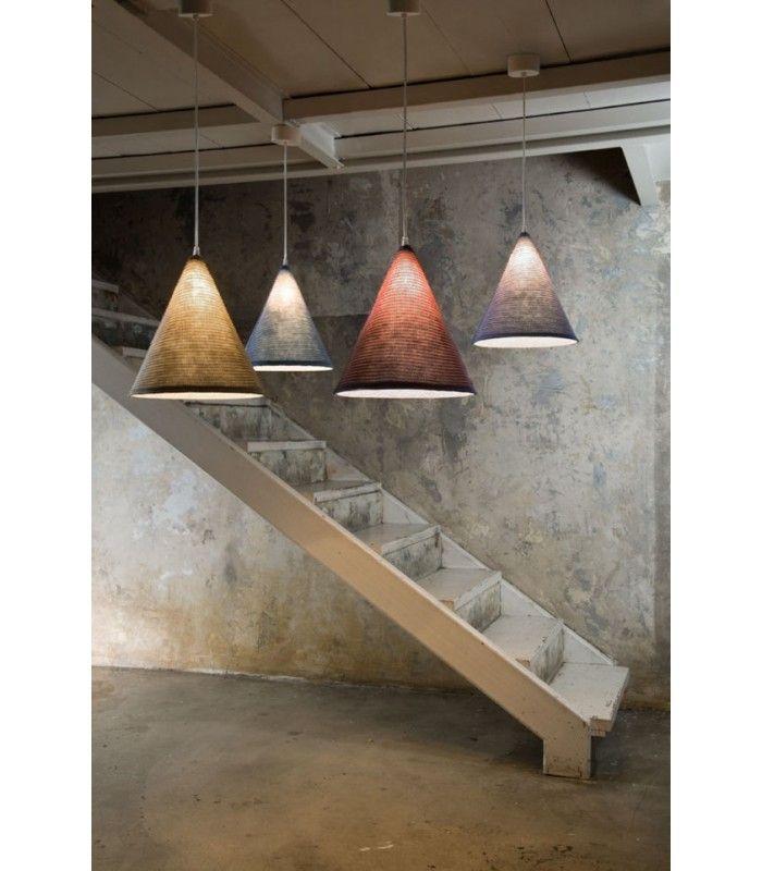 In-es.artdesign - lampada a sospensione Jazz Stripe #inesartdesign #artdesign #nebulite #design #lamp #suspensionlamp #chandelier #jazz #stripe #jazzstripe #wool