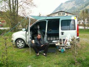 kangoo camper viaggi in vespa pinterest mini camper camping and van conversions ideas. Black Bedroom Furniture Sets. Home Design Ideas