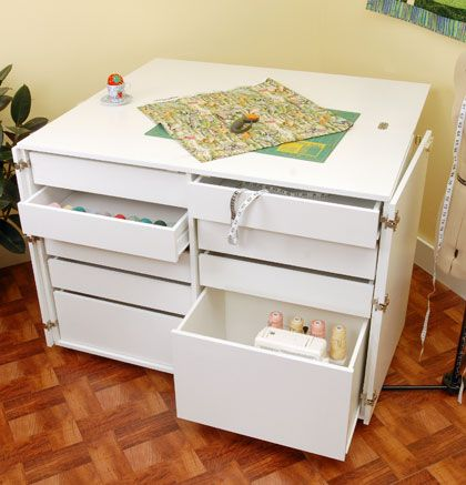 27 best images about office craft room inspiration on for Craft cabinet with table