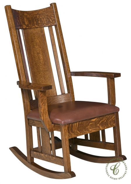 Our solid wood El Rito Rocker makes itself at home in every room of your home, with authentic Amish craftsmanship and a style that is decidedly Mission.