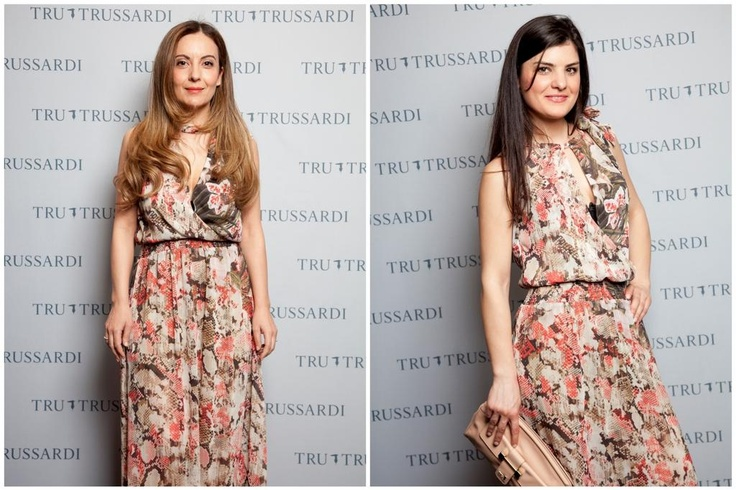 The printed long dress #TweetYourLook with Tru Trussardi Rome Styling Set ~ The Dolls Factory