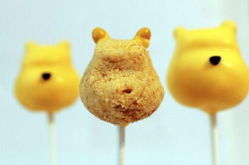 whinnie the pooh cake pops http://family.go.com/food/recipe-bakerella-885260-disney-bakerella-winnie-the-pooh-cake-pops-t/