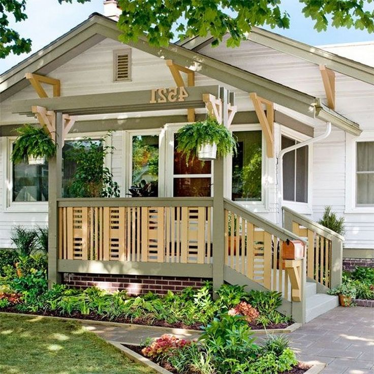 45+ Unique Wood Railing Ideas for Your House Style | Porch ...