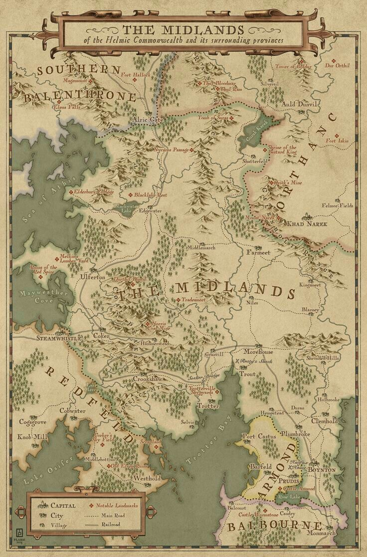 92 best maps worlds and nations images on pinterest world maps midlands mapthis map was commisioned for an upcoming webcomic from crookshaw creative and shows one of the main region of the setting the midlands gumiabroncs Images