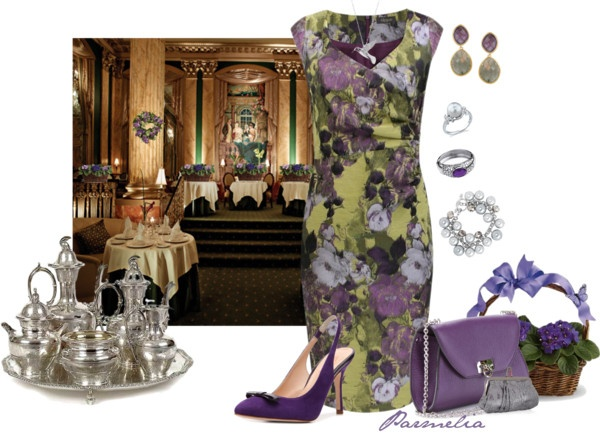 """Afternoon Tea at The Peabody Hotel, Memphis,TN"" by parmelia ❤ liked on Polyvore"